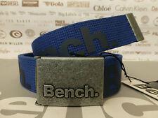 BENCH Cool Webbing Belt GIANNI B/Blue Thermoweld Allover Logo Buckle Belts BNWT