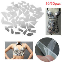 10/50pcs Crystal Mirror Sew On Rhinestones Irregular Acrylic Shiny Wedding Dress