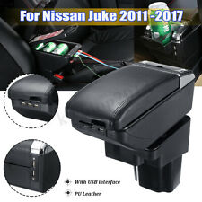 Car Armrest Console Box Storage Central Handrails Tray For Nissan Juke 2011-2017