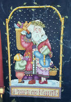 Peace on Earth Counted Cross Stitch Pattern and Partially stitched Fabric Xmas