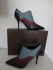 GUCCI Shoes Gr.39,5 MALAGA KID NERO Black Schwarz Schuhe Stiefeletten Pumps neu