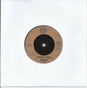 "Madonna - Papa Don't Preach 7"" Vinyl Single 1986"