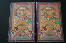 1991-92 UPPER DECK UPPERDECK BASKETBALL FACTORY SEALED BOX LOT OF 2