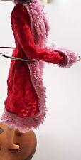 Vintage Mod Era Barbie Doll Clothes Dream Pajamas Fur Robe Red Pattern Pink C 3