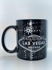 Welcome To Las Vegas Souvenir Coffee Mug Black Silver Lettering