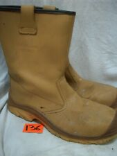 SIZE 11 UPower Non Metallic brown Rigger Boots same leather as JALLATTE JALASKA