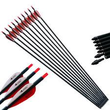 12PCS Bogenschießen 30'' SP500 ID6.2mm Carbon Pfeile Schäfte Arrows Hunting