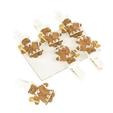 Gingerbread Chef Figure Craft Clips 5cm x Pack of 6