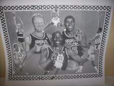 Michael Jordan, Magic Johnson, Larry Bird Lithograph by Robert Simon Art