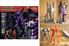 Set 5 Figure EVANGELION ULTIMATE ACTION PART 1 Bandai Eva 01 02 FIGURES Gashapon
