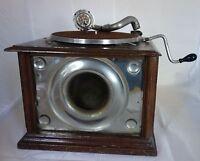Gramophone Pavillon interne / Tête lecture COLUMBIA /Antique Phonographe PATHÉ ?