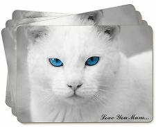 White Cat 'Love You Mum' Picture Placemats in Gift Box, AC-6lymP