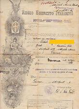 FOGLIO DI CONGEDO ASSOLUTO 41° REGGIMENTO FANTERIA SAVONA 1919 2-108