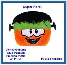 "FALALA GENUINE DISNEY CLUB PENGUIN PUFFLE ORANGE FRANKEN HAT 4"" PLUSH - SUPER RA"
