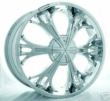 "22"" Chrome Wheels 5/6 Lug LIMITED PLAYER SHOOZ DYNASTY"
