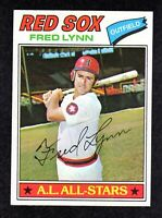1977 Topps #210 Fred Lynn All-Star Boston Red Sox Baseball Card EX/MT+