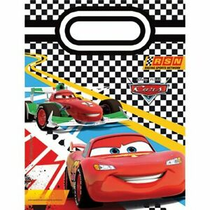DISNEY CARS LOLLY BAGS FOR 12 GUESTS DISNEY CARS LOOT BAGS PARTY SUPPLIES