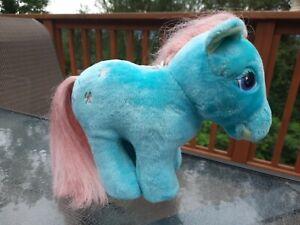 My Little Pony Hasbro Softies BOW TIE Plush Stuffed Turquoise Pink Mane G1