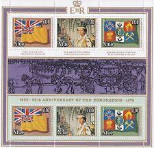 (37043) Niue MNH Queen Coronation +25 years minisheet 1978 u/m mint