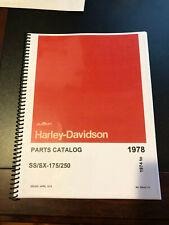 1976 Harley Aermacchi Ss Sx 250Cc/ 175Cc Parts Catalog 99440-78 Amf