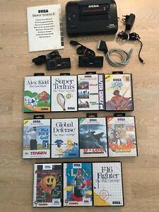 SEGA Master System Sammlung, AV-Mod! Beide controller, 12 Spie! Look!