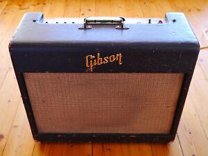 1957 Gibson GA-6 Tube Amp Tweed Deluxe 5E3 Killer 1x12 Combo
