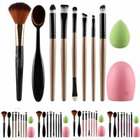 Pro Makeup Cosmetic 10pcs/Set Brushes Powder Foundation Eyeshadow Lip Brush Tool