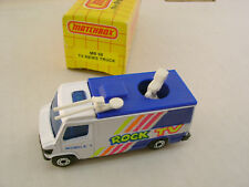 1991-93 MATCHBOX SUPERFAST MB 68 ROCK TV NEWS TRUCK MOBILE 1 NEW IN BOX