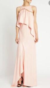 Sass And Bide Pale Pink Silk Maxi Formal Draped Dress 6-8