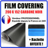 200 x 152cm Carbone 3D Noir Film Vinyle Sticker Covering THERMOFORMABLE DISCOUNT