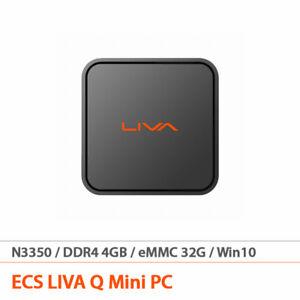 ECS LIVA Q Mini PC Win10 Intel Celeron N3350 1.1GHz eMMC 32G/4Gb DDR4 260g FedEx