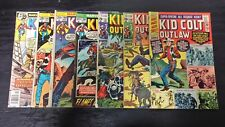 1966 MARVEL LOT OF (7) KID COLT OUTLAW #130-228 MIXED-GRADE COWBOY WESTERN