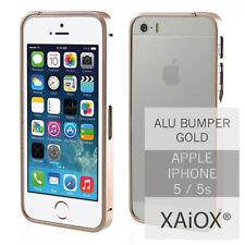 Apple iPhone 5s 5 Aluminium Bumper Metall Case Tasche Schale Slim Cover Alu gold
