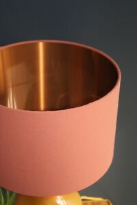 Lampshade, Earthy Terracotta Cotton with Brushed Copper Lining