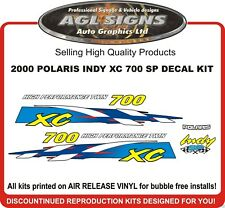 2000 POLARIS INDY XC 700 SP HOOD DECALS graphics reproductions