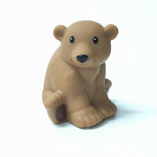 Fisher-Price Little People Zoo Animal Bear figure -no sound Baby Doll Toy Gift