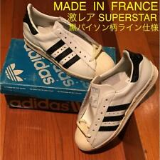 Vintage 1980's Adeidas Superstar Black White Sneakers 24.0cm From France Rare
