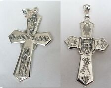 Veronica's Veil and Lady Lourdes Very Rare french Lourdes cross Holy