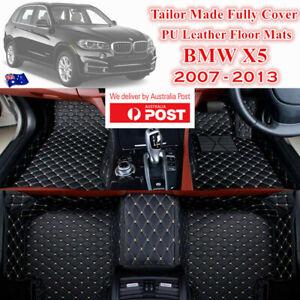 3D Cut Custom Made Waterproof PU Leather Car Floor Mats for BMW X5 2007 - 2013