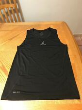 Nike Micheal Air Jordan Tank top Black Dri Fit Shirt MJ 23 T-shirt XXL
