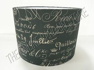 Ballard Designs James Collection Limited Edition Document Script Lamp Shade 17""