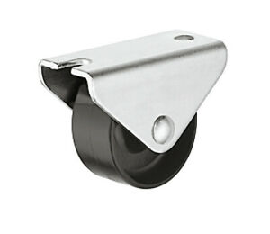 BLACK HAFELE FIXED  SWIVEL CASTOR FURNITURE WHEEL Ø 15-45mm OFFICE CHAIR WHEELS