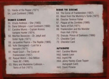 HAMMER HORROR - Series One - Card #72 - CHECKLIST -