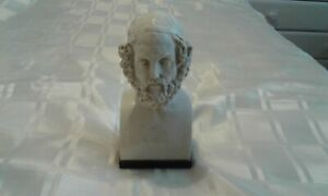 MARBLE HOMER C.850 BC BUST BOOKEND
