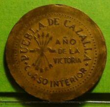 PUEBLA DE CAZALLA, 25 Centimos ND (1936-1939) Brass, Spanish Civil War