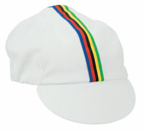 Pace Sportswear Traditional Cycling Cap   White   M/L