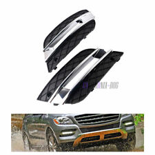 For Mercedes ML350 ML450 09-11 New DRL Light Cover Front Bumper Grille L+ R