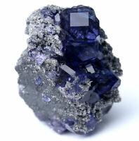 74.6g Rare Beauty Gem Grade Blue Fluorite Crystal Mineral Specimen/China