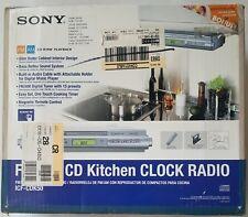 Sony Icf-Cdk50 Am/Fm/Cd Under Cabinet Kitchen Clock Radio New Open Box