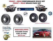 FOR MERCEDES E CLASS Coupe E250 2013-> FRONT REAR PERFORMANCE BRAKE DISCS + PADS